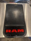 Pair of Heavy Duty Mudflaps - Black Ram - FREE SHIPPING